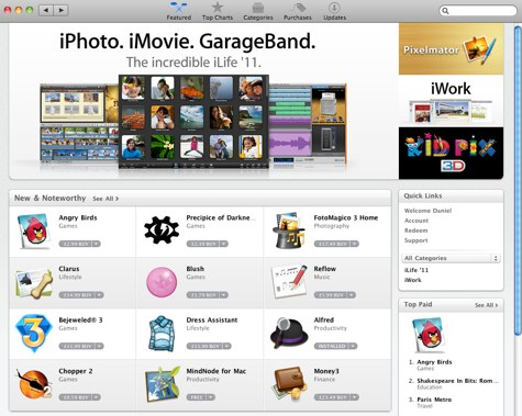 Mac App Store available from your computer : RealWorld Computer
